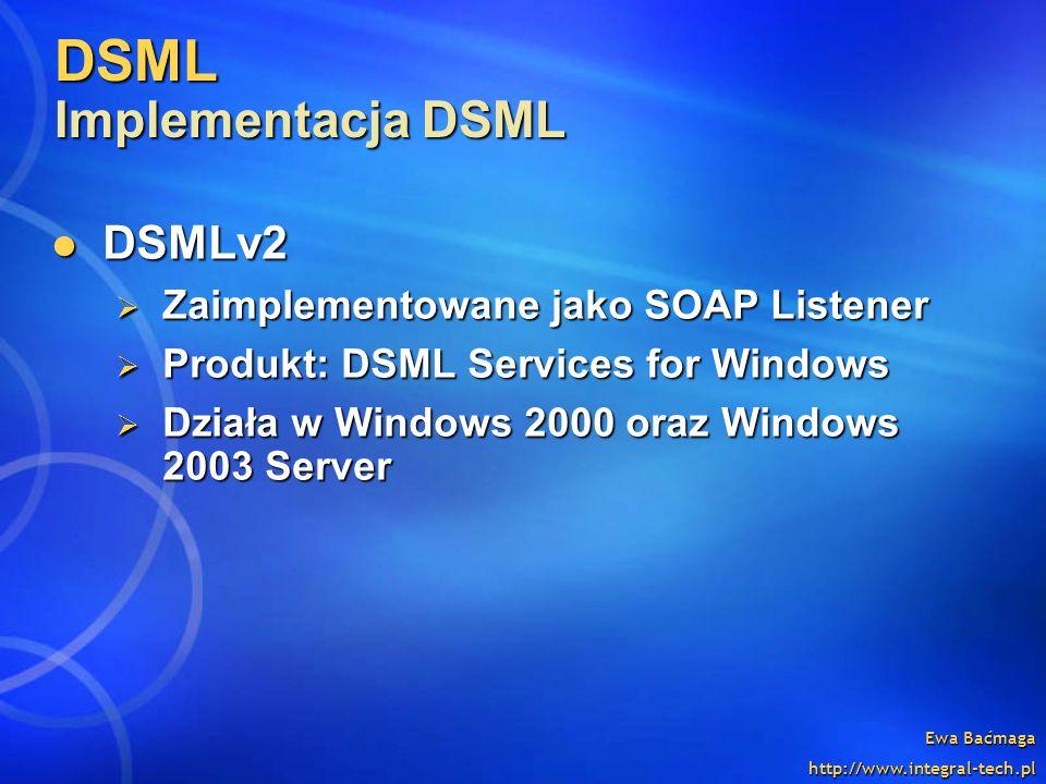 DSML Implementacja DSML