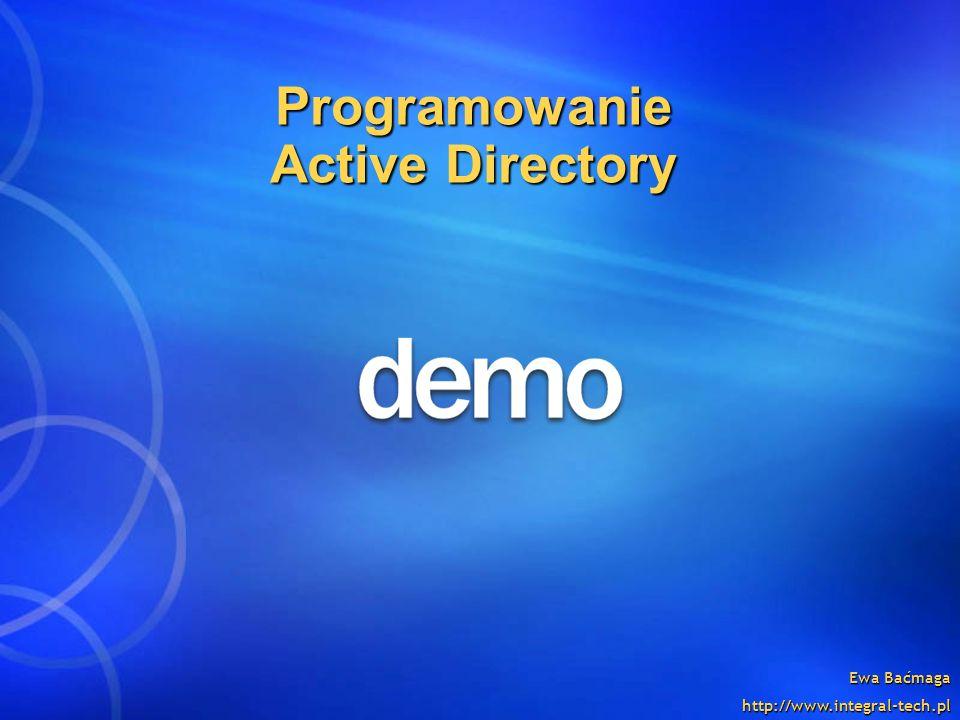Programowanie Active Directory