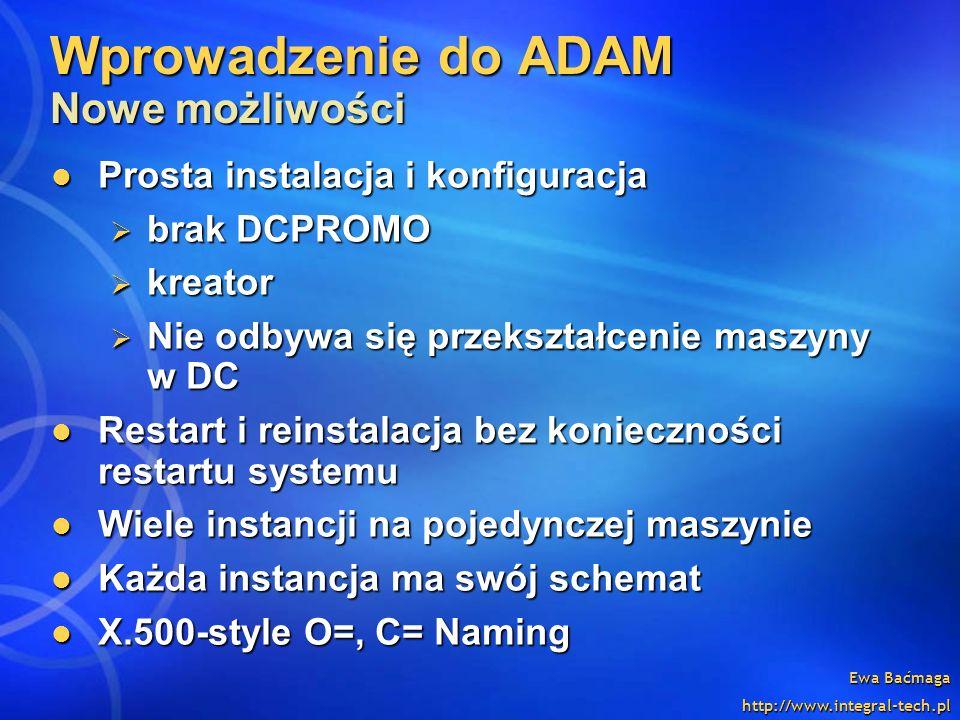 Wprowadzenie do ADAM Nowe możliwości
