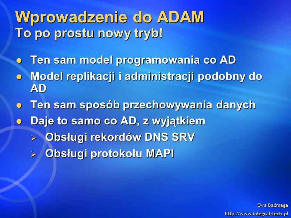 Wprowadzenie do ADAM To po prostu nowy tryb!