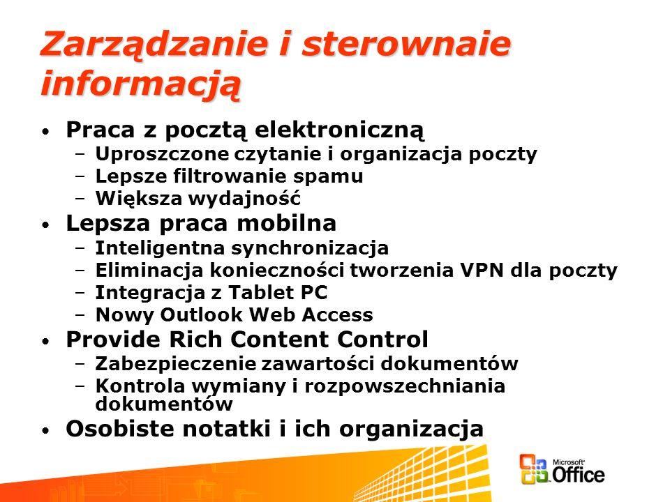 Zarządzanie i sterownaie informacją