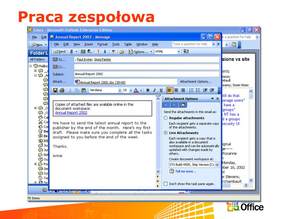 Praca zespołowa March 11-13, 2003 Information Worker Partner Airlift