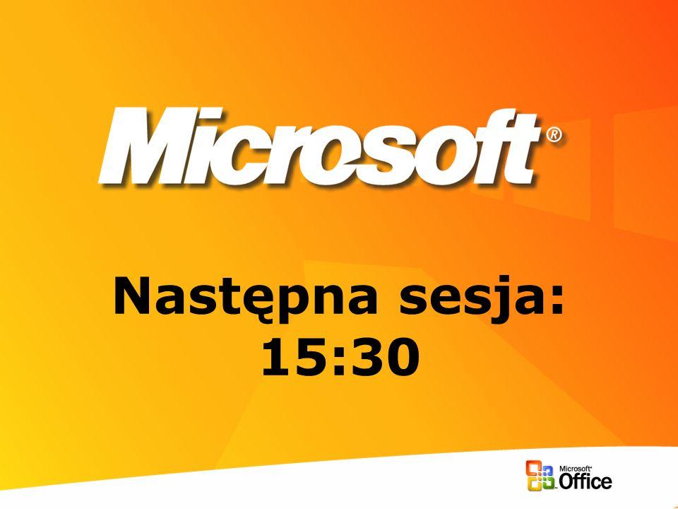 Następna sesja: 15:30