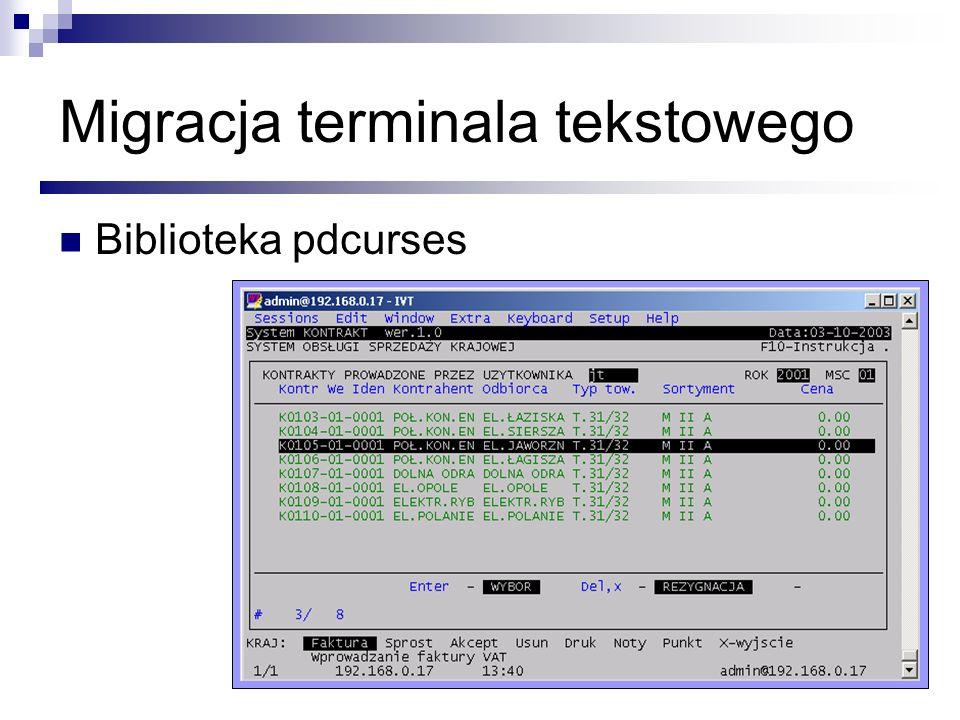 Migracja terminala tekstowego