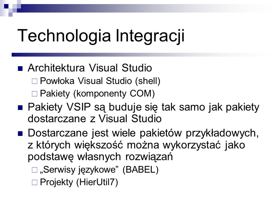 Technologia Integracji