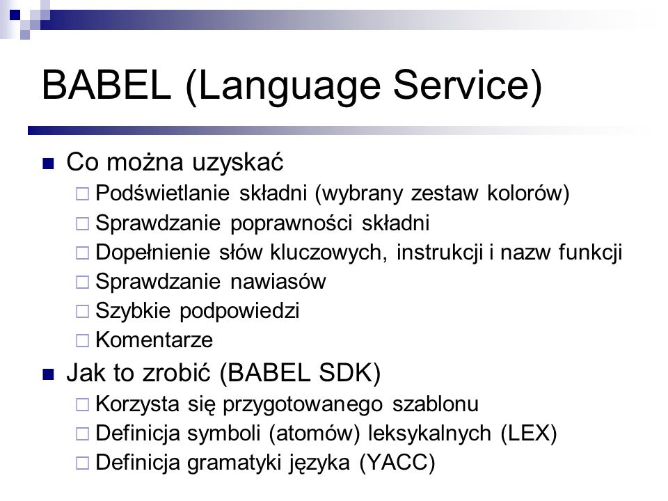 BABEL (Language Service)