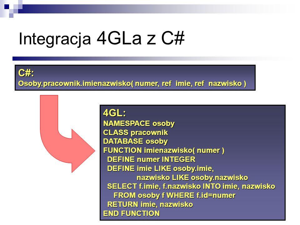 Integracja 4GLa z C# C#: 4GL: