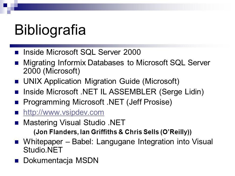 Bibliografia Inside Microsoft SQL Server 2000