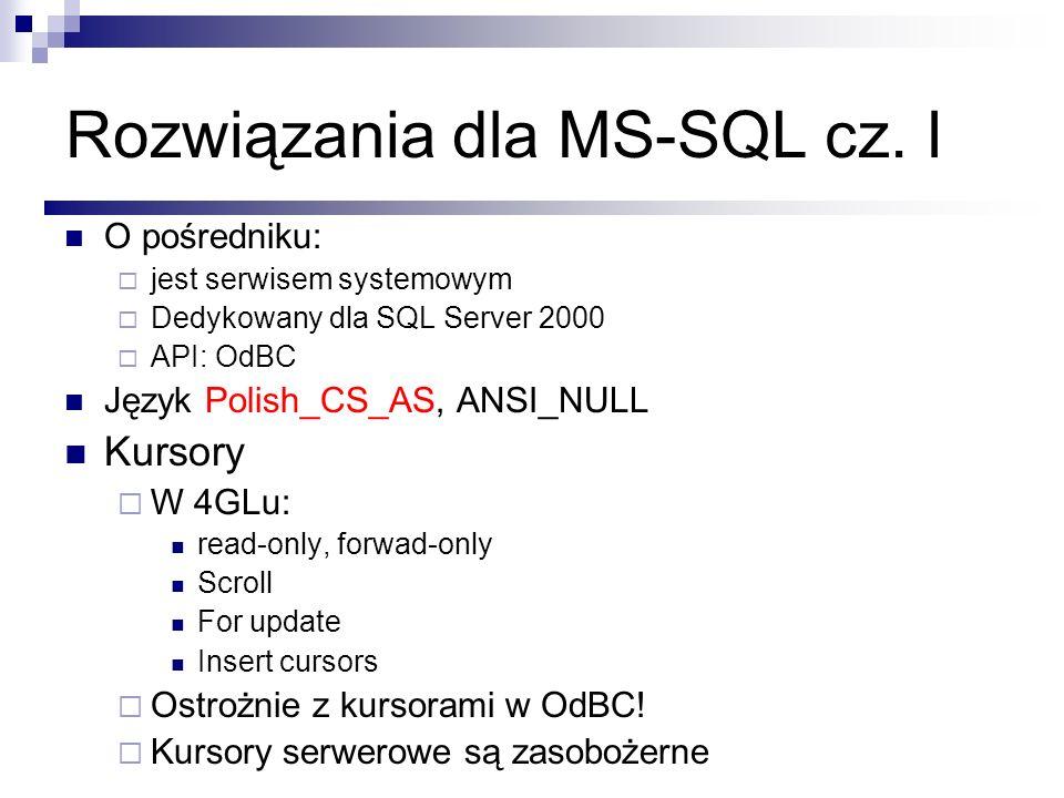 Rozwiązania dla MS-SQL cz. I