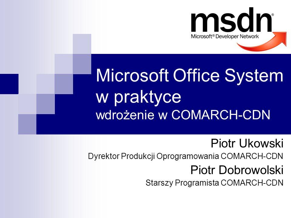 Microsoft Office System w praktyce wdrożenie w COMARCH-CDN