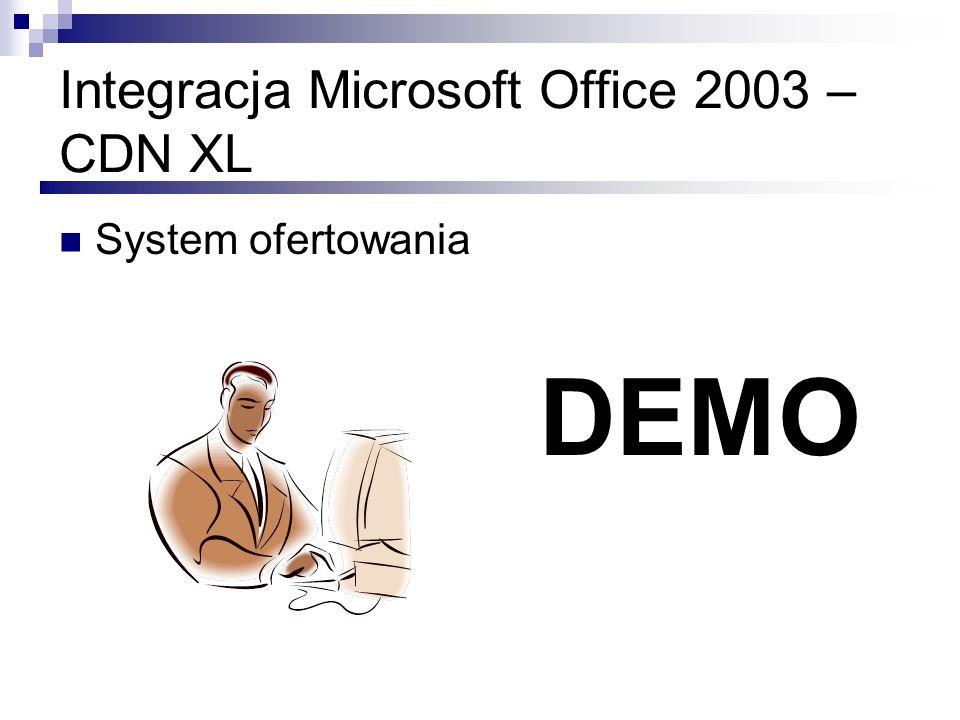 Integracja Microsoft Office 2003 – CDN XL