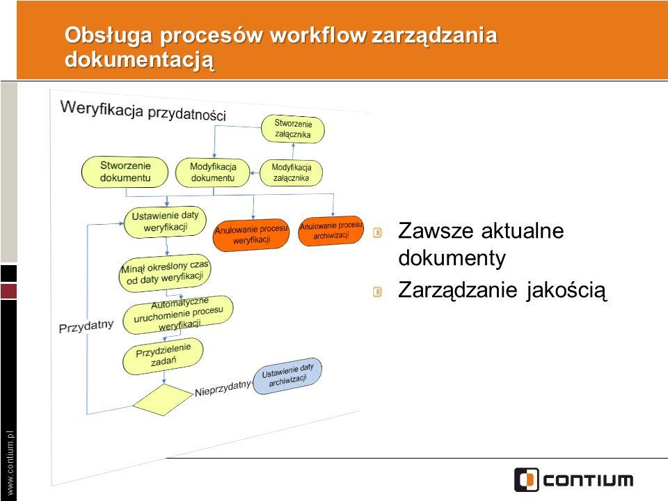 Obsługa procesów workflow zarządzania dokumentacją