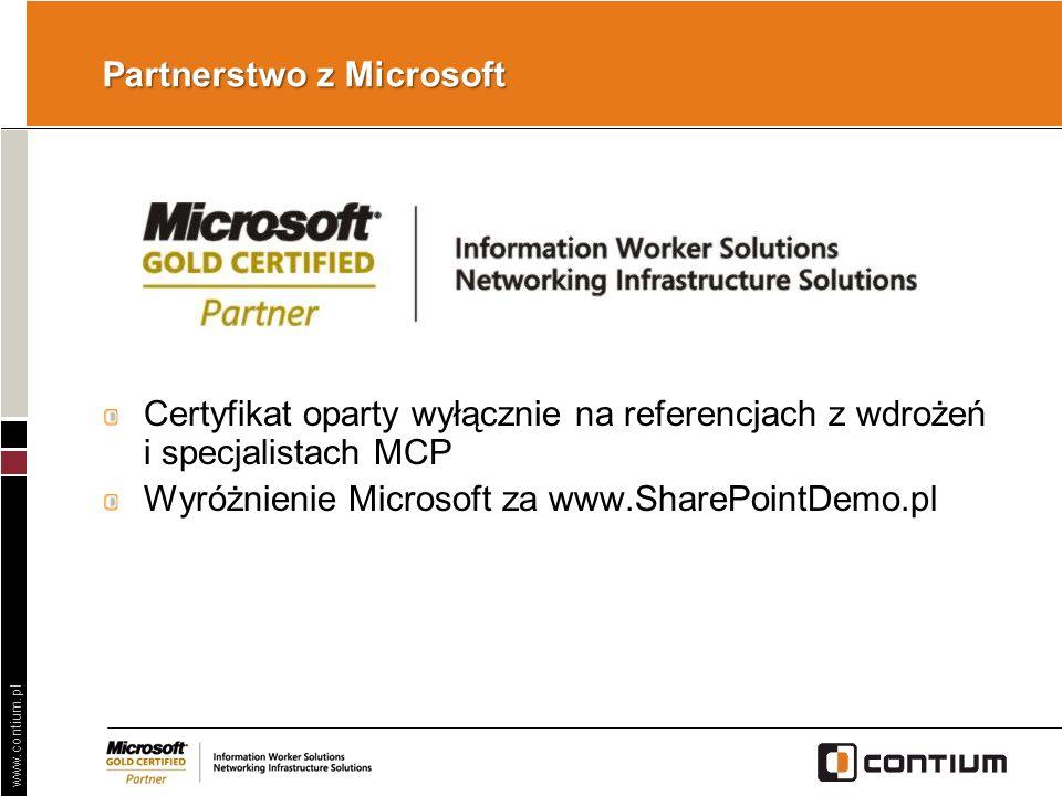 Partnerstwo z Microsoft