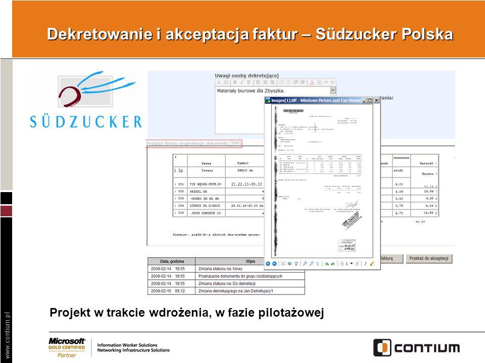 Dekretowanie i akceptacja faktur – Südzucker Polska