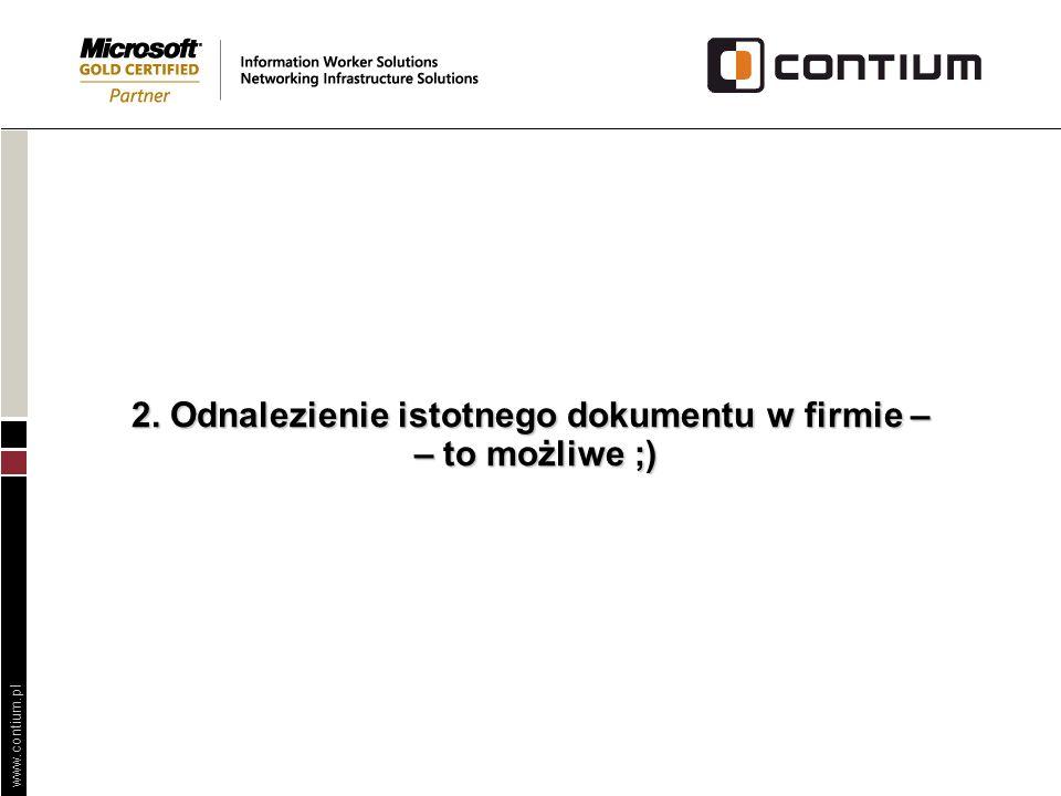 2. Odnalezienie istotnego dokumentu w firmie – – to możliwe ;)