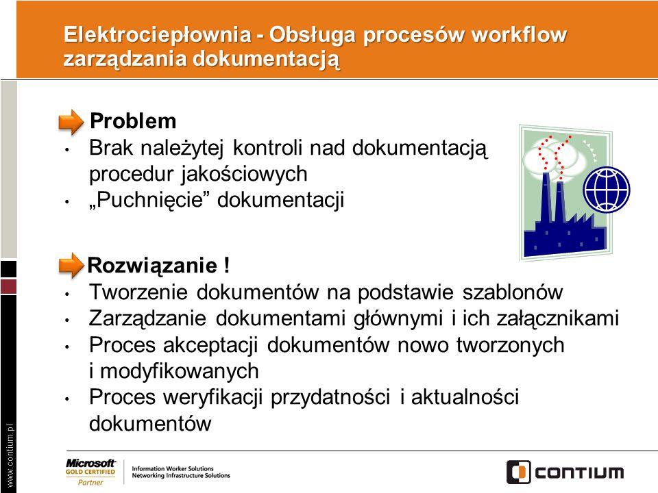 Elektrociepłownia - Obsługa procesów workflow zarządzania dokumentacją