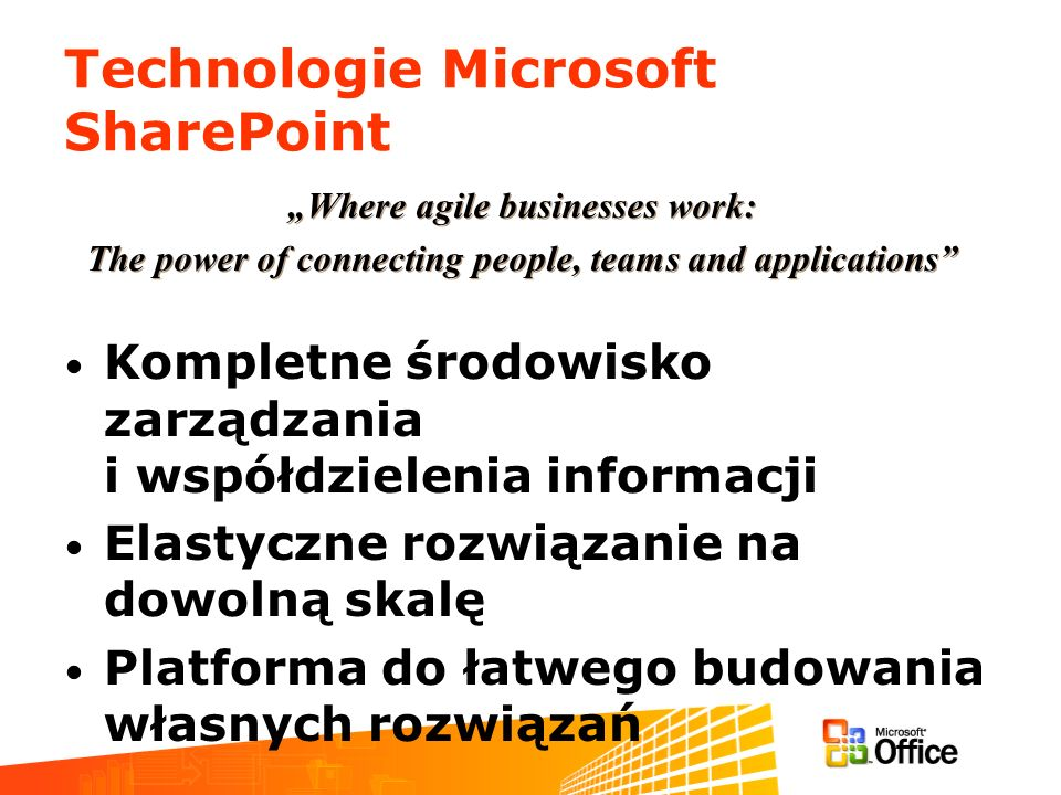 Technologie Microsoft SharePoint