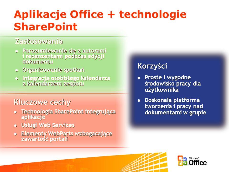 Aplikacje Office + technologie SharePoint