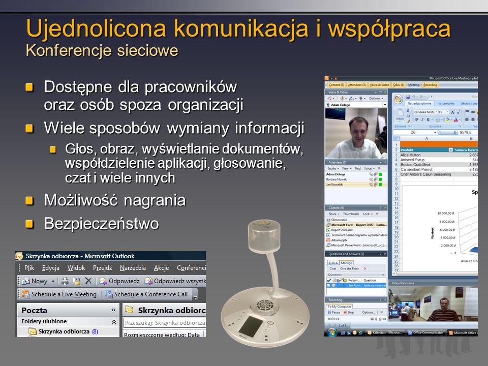 Ujednolicona komunikacja i współpraca Konferencje sieciowe