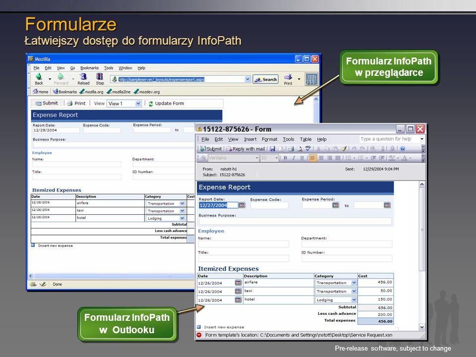 Formularze Łatwiejszy dostęp do formularzy InfoPath