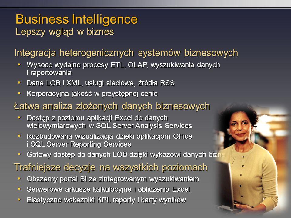 Business Intelligence Lepszy wgląd w biznes