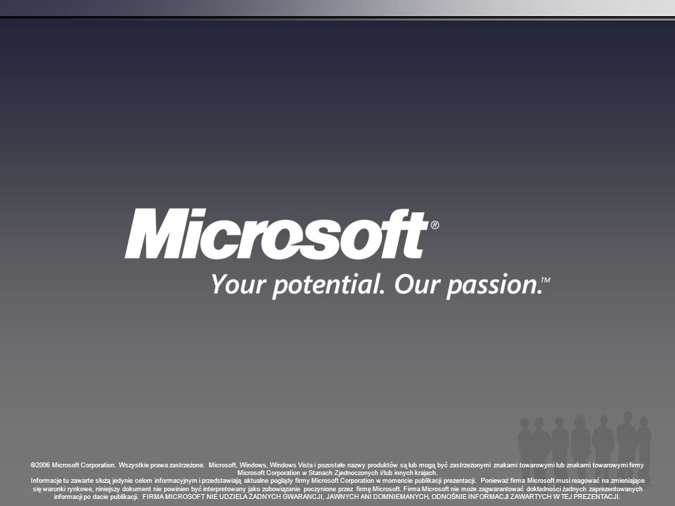 ©2006 Microsoft Corporation. Wszystkie prawa zastrzeżone