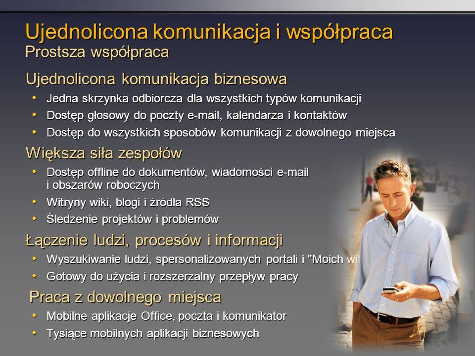 Ujednolicona komunikacja i współpraca Prostsza współpraca
