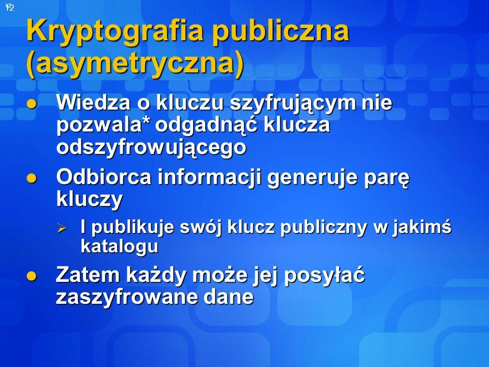 Kryptografia publiczna (asymetryczna)