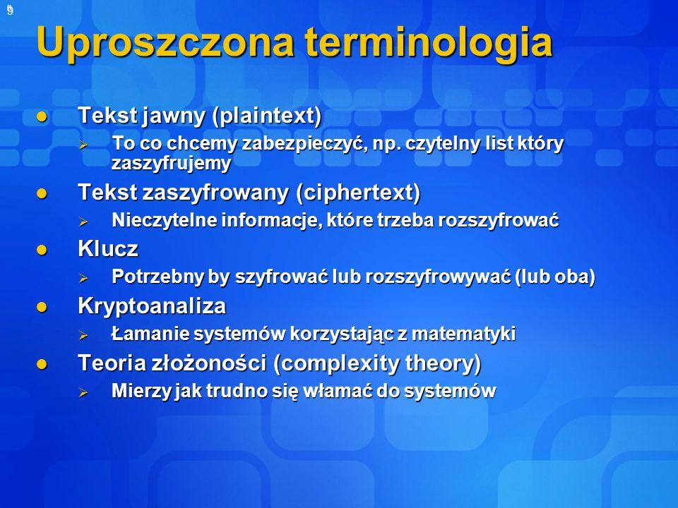 Uproszczona terminologia