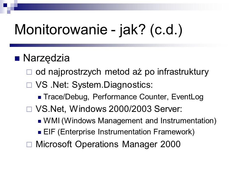 Monitorowanie - jak (c.d.)