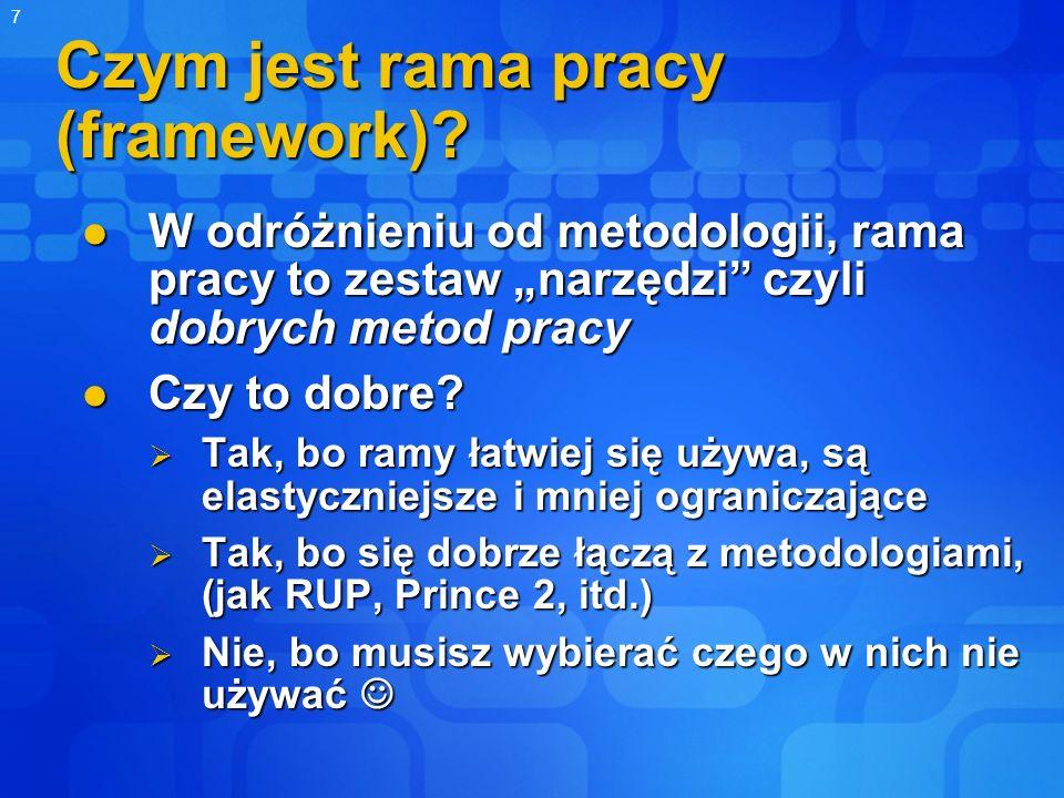 Czym jest rama pracy (framework)