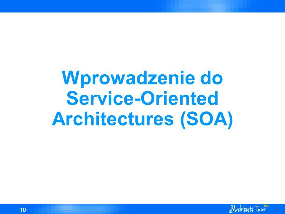 Wprowadzenie do Service-Oriented Architectures (SOA)