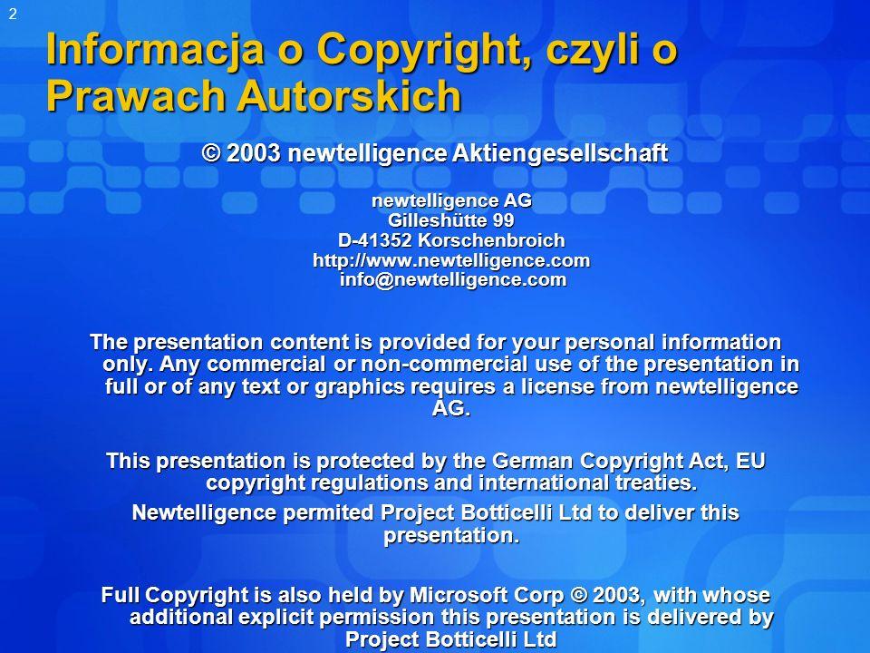 Informacja o Copyright, czyli o Prawach Autorskich