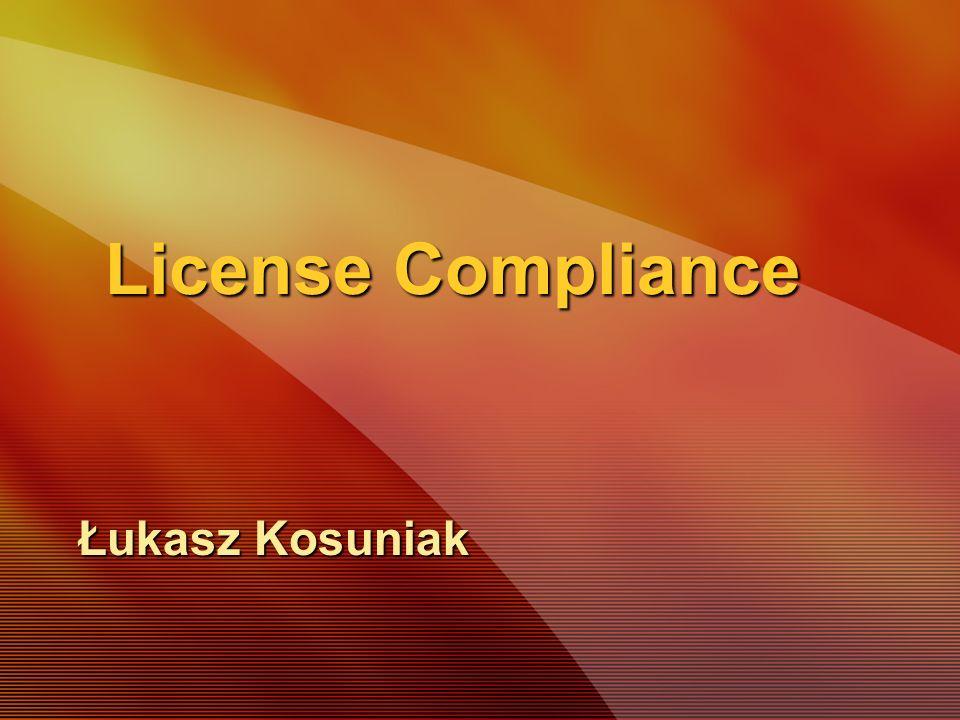 License Compliance Łukasz Kosuniak