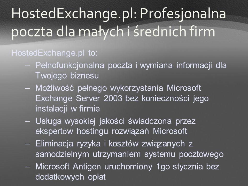 HostedExchange.pl: Profesjonalna poczta dla małych i średnich firm