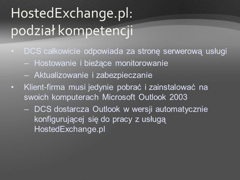 HostedExchange.pl: podział kompetencji