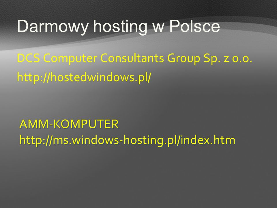 Darmowy hosting w Polsce