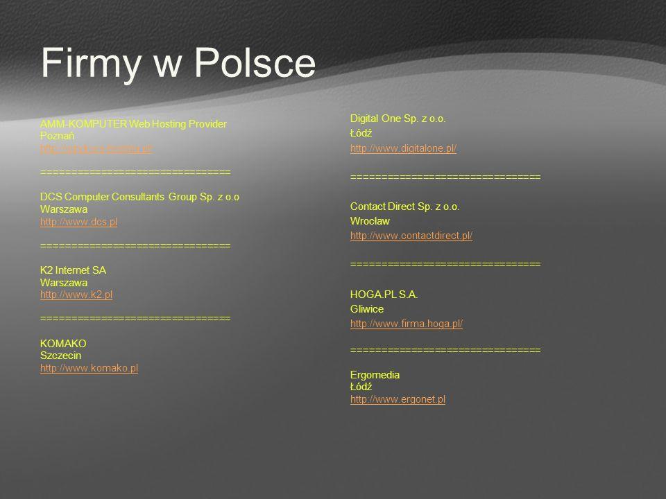 Firmy w Polsce Digital One Sp. z o.o. Łódź http://www.digitalone.pl/