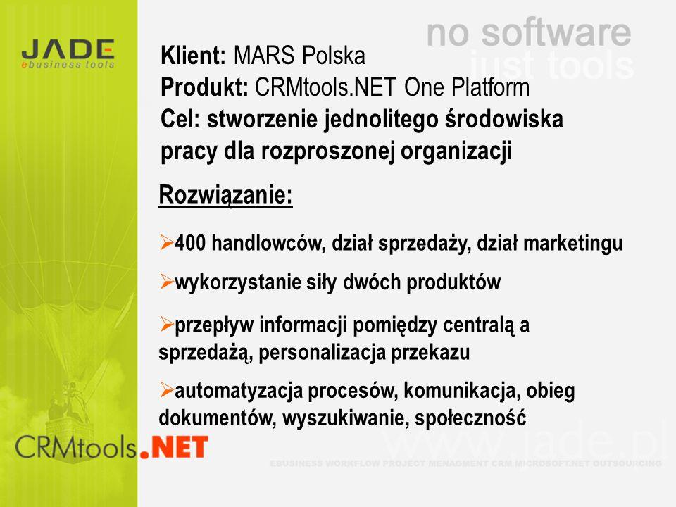 Produkt: CRMtools.NET One Platform