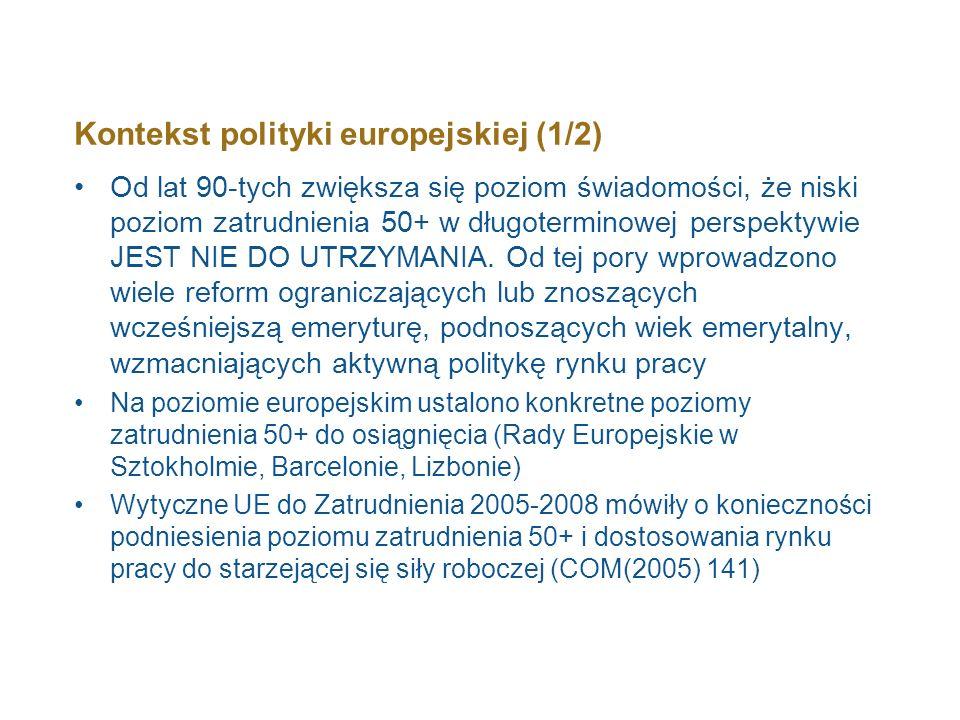 Kontekst polityki europejskiej (1/2)