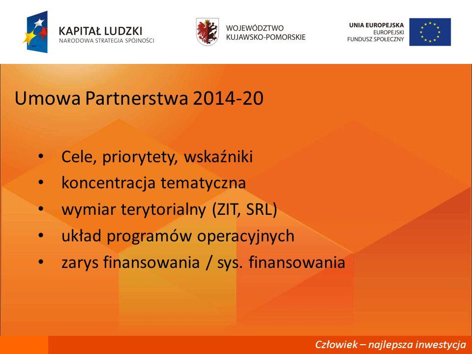 Umowa Partnerstwa 2014-20 Cele, priorytety, wskaźniki