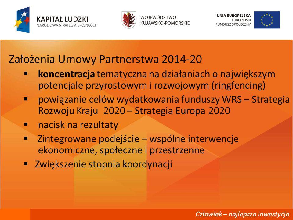 Założenia Umowy Partnerstwa 2014-20