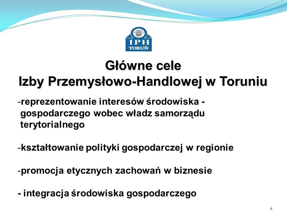 Główne cele Izby Przemysłowo-Handlowej w Toruniu