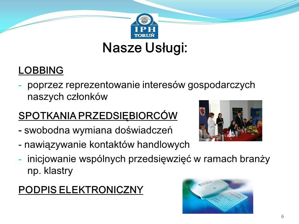 Nasze Usługi: LOBBING. poprzez reprezentowanie interesów gospodarczych naszych członków. SPOTKANIA PRZEDSIĘBIORCÓW.
