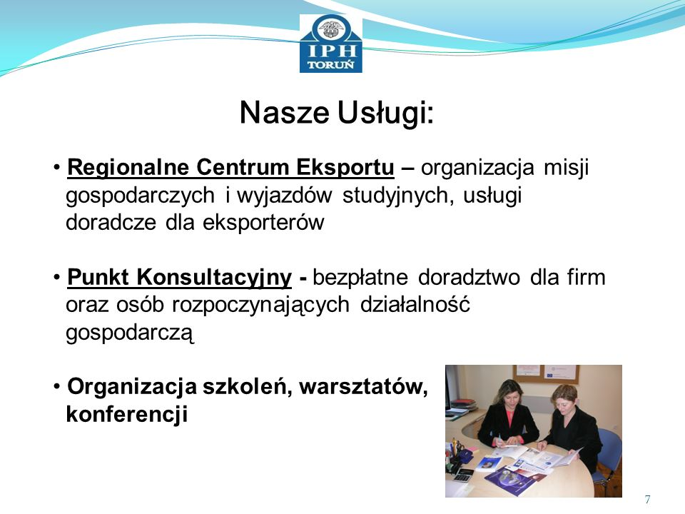 Nasze Usługi: Regionalne Centrum Eksportu – organizacja misji