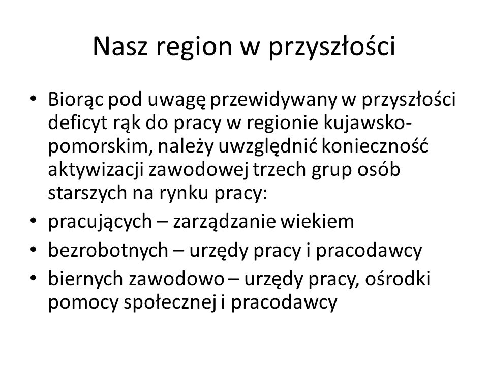 Nasz region w przyszłości