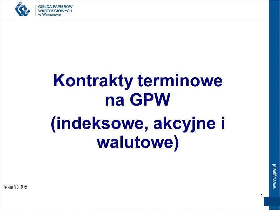 Kontrakty terminowe na GPW (indeksowe, akcyjne i walutowe)