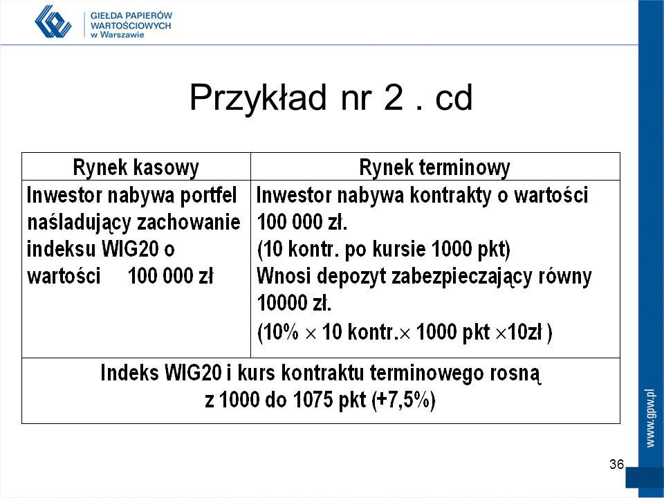 Przykład nr 2 . cd