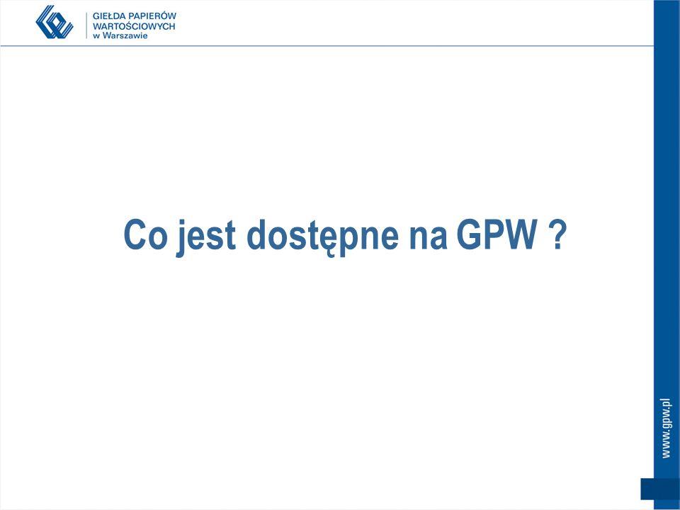 Co jest dostępne na GPW