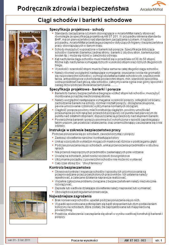 Ciągi schodów i barierki schodowe